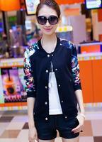 2015 women jackets winter outerwear female plus size clothing short design thin outerwear baseball uniform slim jacket 183