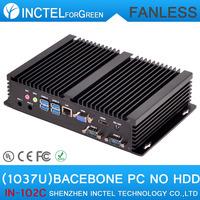 Barebone HTPC Small linux Computer ITX with 2 COM 4 USB 3.0 Intel Celeron 1037u processor