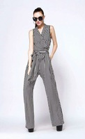 2015 New look striped jumpsuits high end