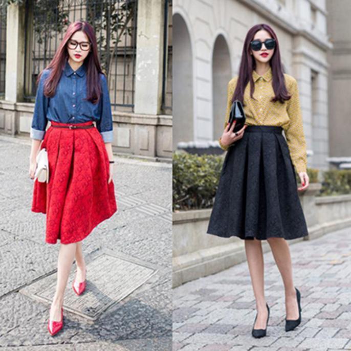 цена Женская юбка Biovan 2015 Saia Feminino YT1428 онлайн в 2017 году