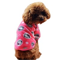 2015 New Clothing For Dog Flannel Soft Pink Blue Shirt Spring Fall Pet Coat Supplies For Puppy Animals Chihuahua Cat Dachshund