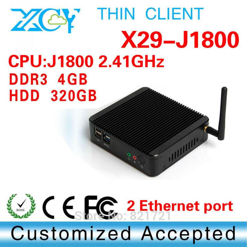 Desktop Computer Mini ITX Casing HTPC Intel dual Core j1800-2 4GB DDR3 320G HDD embedded computer(China (Mainland))