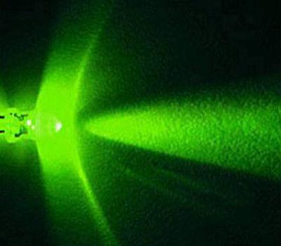 Lot of 100 X 3mm Green LED 15000 mcd Free Resistors(China (Mainland))