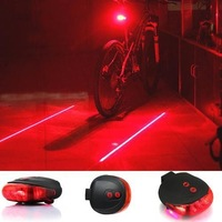 US!  Bicycle Laser Tail Light Water Resistant 7 Modes Mountain Bike Safety Back Rear Led Light