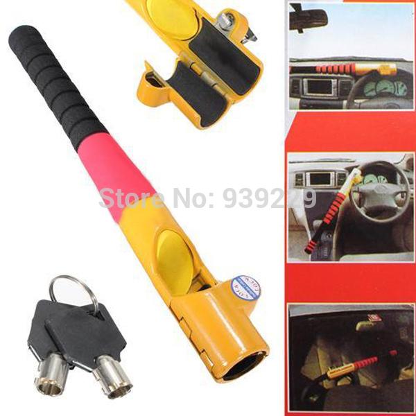 Brand New Anti Theft Auto Car Truck High Security Baseball Steering Wheel Lock With 2 Keys(China (Mainland))