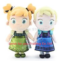 30CM childhood Plush Elsa Anna baby plush Soft Toy, Princess Brinquedos Elsa Anna Dolls for Girls, Christmas gift,Free shipping