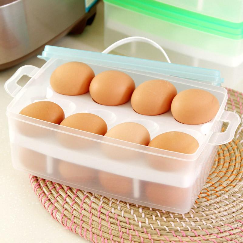 Plastic double eggs preservation boxes, refrigerators receive big crisper(China (Mainland))