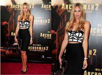 2015  Hot  Sale Womens Celeb Strapless Two Piece Bralet Bustier Top&Bodycon Lady Bandage Dress