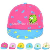 Spring Autumn Baby Cotton Baseball Hat Elastic Infant Casquette Peaked Sun Hat Figure Children's Cap 5pcs SW039