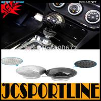 Free Shipping Universal 51*64*15 carbon fiber + alloy Auto Car Gear Shift Knob & Gear stick head for any car