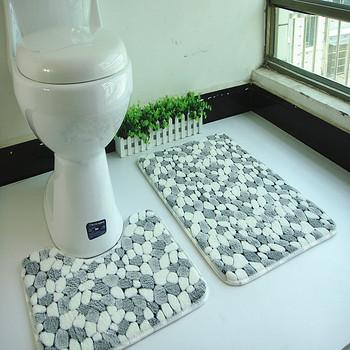 2 шт./компл. пвх сетка коралловый флис коврики ванная комната первом коврик комплект 50 * 80 см водопоглощение Антипробуксовочная антибактериальная коврики