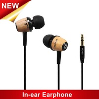 Original Awei ES-Q9 Wooden In-ear Stereo Earphones for Cell Mobile Phone,Computer,MP3 Player,MP4, Super Bass Headphone Headset