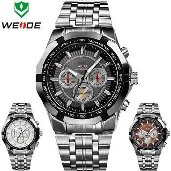 Оригинал Weide спортивные часы мужчины из нержавеющей стали кварцевые Clcok дайвинг наручные часы мода Relogio Masculino Reloj хомбре