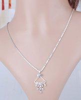 2015 Designer Trendy Wedding AccessoriesRhinestone Alloy Jewelry Set Heart &Round /Sector Drop Shining Necklace /Earrings Women