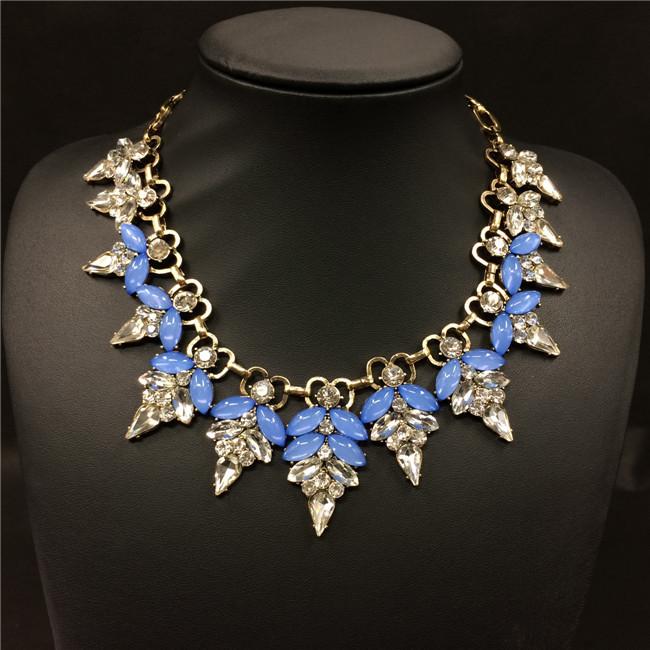 IB5002 leaf opal pastel neckcandy Women Fashion Jewelry designer inspired Luxury statement necklace & pendant choker bib collar(China (Mainland))
