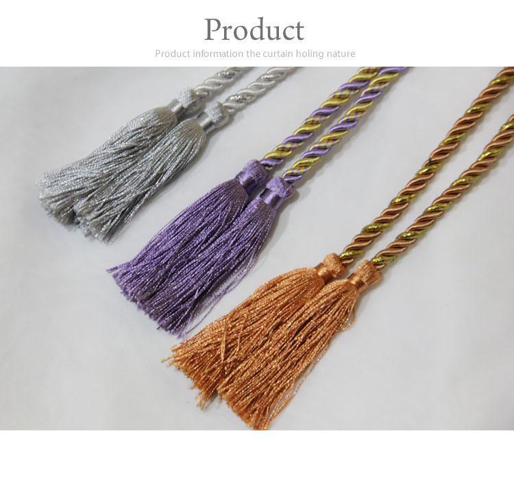 Seda Tassel da cortina Tie voltar acessórios cortina de seda moda barata simples e elegante Tassel de seda titulares para cortinas(China (Mainland))