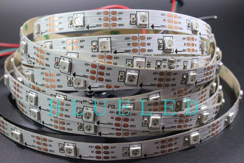 White PCB Non-Waterproof New 1M 30 LEDs Pixels WS2812B WS2812 SMD 5050 RGB Digital LED Strip Light 5V(China (Mainland))