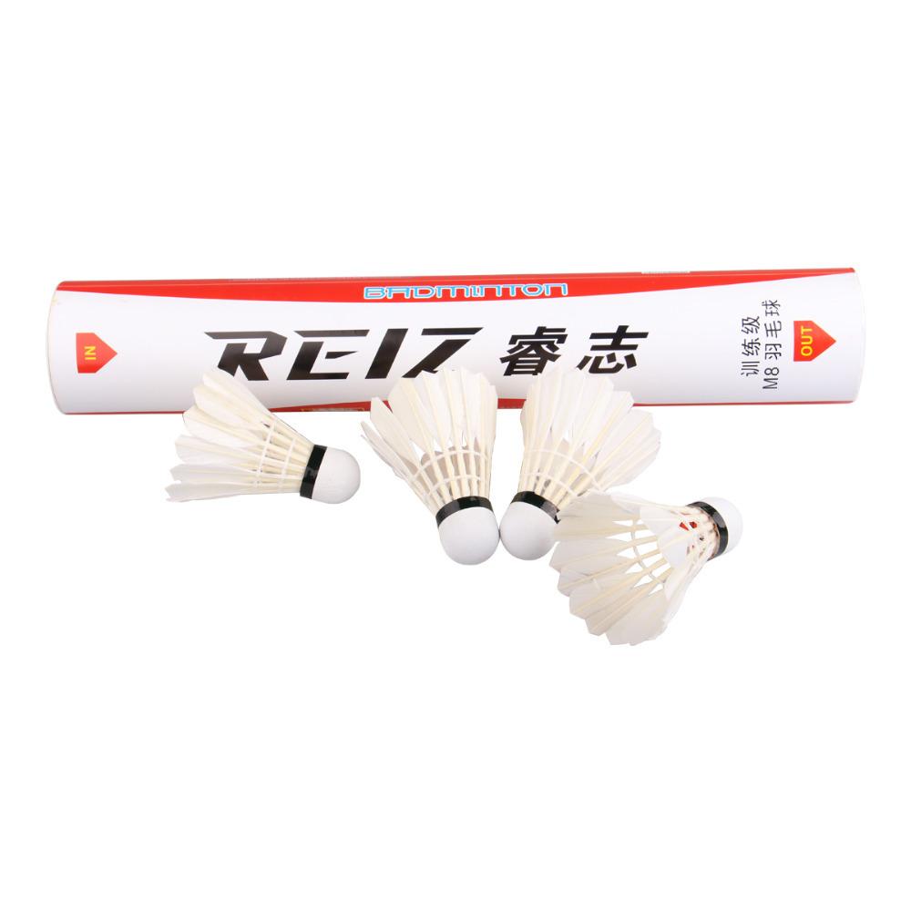 Free Shipping 12pcs/lot High Quality 12Pcs Training White Teal Feather Badminton Shuttlecocks Wholesale M8(China (Mainland))