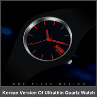 10Pcs High Quality Korean Ultra Thin Fashion Sport Watches The Simple Design Quartz Watches Waterproof Table For Men And Women