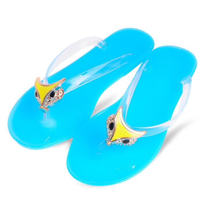 Hot Sale ! Women Fashion Fox Head Candy Colors Flip Flops Summer Slippers Sandals Women Platform Shoes(China (Mainland))