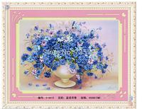 wholesale 5pcs/lot DIY Ribbon embroidery paintings 45X60CM -- kits handwork needlework diy embroidery room decoration