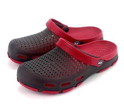 Sapatos buraco 2015 nova masculino jardim calçados femininos sandálias de verão chinelos cor de geléia Plus Size baratos tamancos(China (Mainland))