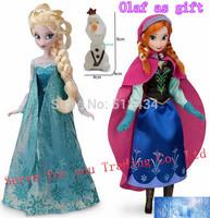 Princess Brinquedos Elsa Anna doll 11.5 Inch Doll 30cm Elsa+Anna+small Olaf 12 Joint Moveable Birthday/Chrismas Gift For Kids