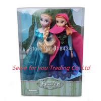 2PCS/Lot Hot Sales Princess Brinquedos Elsa doll Anna doll 11.5 Inch Elsa and Anna doll Good Girl Gifts toy Doll Joint Moveable