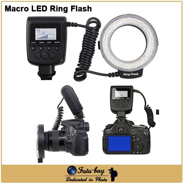 GN15 Macro LED Ring Flash DSLR Camera Ring Light Flash for Canon 550D 600D 650D 700D 60D for Nikon D7200 D7100 D5100 D3100 D600(China (Mainland))