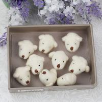 200pcs/lot 2cm DIY accessory mini teddy bear head plush toys dolls,stuffed bear keychian toys plush pendant, promotion gifts
