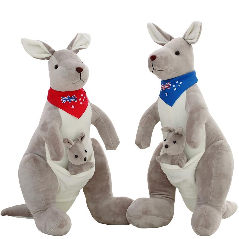 Big Size Kangaroo Mum&Baby Plush Toy Cotton Giant Stuffed Animal Doll Gift For Children(China (Mainland))