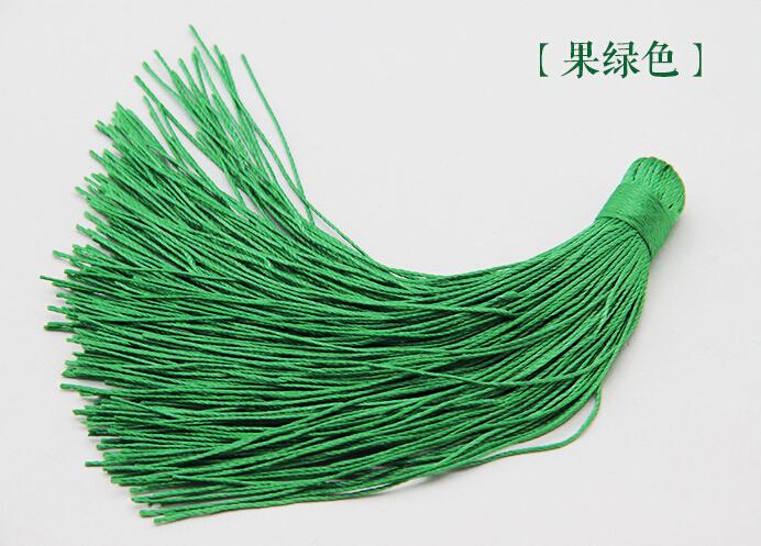 Wholesales:100pcs 12cm Green Fruit Diy Handmade Tassels Small Car Hanging Lanterns Ear Phone Pendant Tassel Hanging WRF2(China (Mainland))