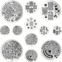 20pcs Optional 5.5cm JQ Series Round Nail Art Image Stamp Template Plates Polish Stamping Manicure Image DIY #JQ20