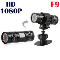 F9 Full HD 1080P Mini Sport Camera Action Camera Bike Mount Helmet Bracket Car DVR Drive Recorder Video Camcorder Gopro Hero