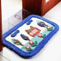 New doormat 40*60cm kids cartoon skid bay window bedroom carpet bath Super soft  floor door rugs 6 style