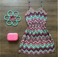 Vestidos 2015 women dress Top Fashion O-neck Women Summer Dress Printing Vestidos Mini Casual dress vestido de festa