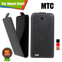 New items 100% Special Case PU Leather Flip Up and Down Case + Free Gift For MTC Smart Start