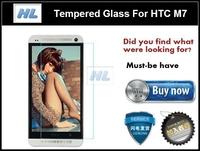 Explosion-proof Anti Shatter Premium Tempered Glass Screen Protector Cover Guard Film for HTC ONE M7 Pelicula De Vidro