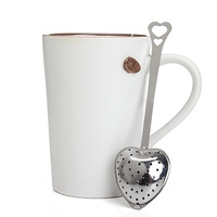 1PC Heart Shape Style Stainless Steel Tea Infuser Teaspoon Strainer Spoon free shipping  #ZH190