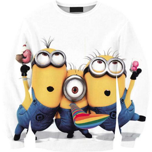 2015 3D Family Printed Sweatshirt cute Three Yellow people Funny Printed Hoodies free shipping(China (Mainland))