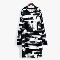 Cheap Sale Plus Size XL XXL XXXL 4XL 2015 Women Vestidos Spring Autumn Casual Dress Print Vestido Dress High Quality X2062
