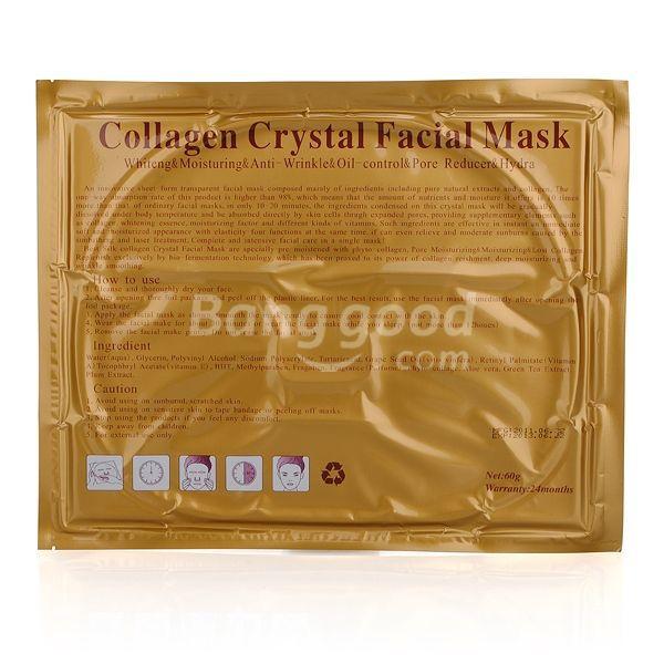 HotHeart Collagen Crystal Facial Mask Deep Moisture Anti Aging(China (Mainland))