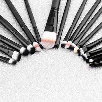 20 шт. макияж кисти для макияжа щетки комплект пудра тени для век подводка для глаз ...