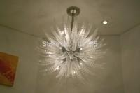 Fashionable Pattern Pure Whiteness Modern Art Glass Chandelier