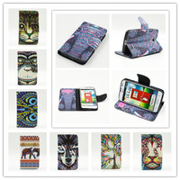 New Animal Head Series PU Leather Phone Cases Covers Flip Stand Wallet Luxury Cover With Card Holder For LG L70 D320 D325