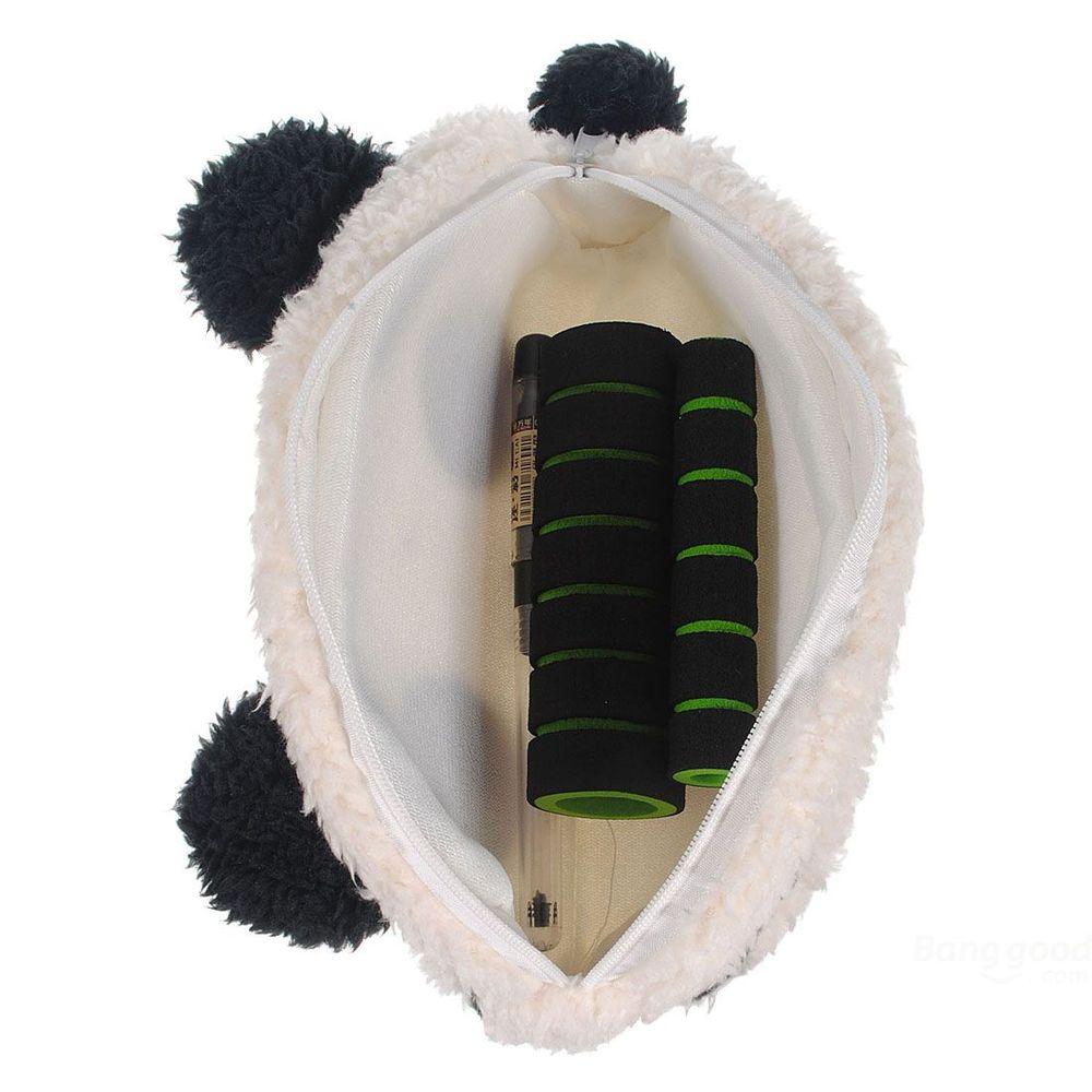 FunSolo Panda Soft Plush Pencil Case Pen Pocket Cosmetic Makeup Bag(China (Mainland))