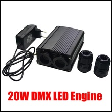 New 20W DMX led optic fiber light engine,AC110V or AC240V led illuminator for DIY lights(China (Mainland))