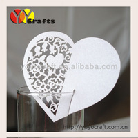 laser cut heart design wedding table decoration  place cards wholesale and retail