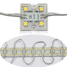 5050 4 из светодиодов модули водонепроницаемый IP65 DC12V желтый / зеленый / красный / синий / белый / теплый белый бесплатная доставка