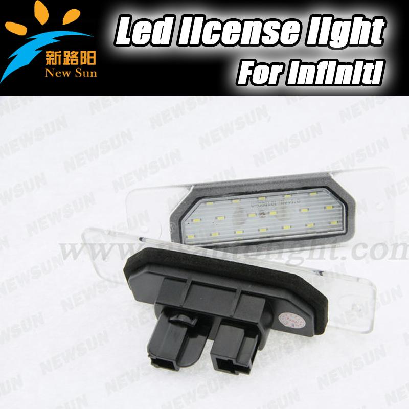 White 3528 SMD LED License Plate Lights for infiniti M37/M56 2010~ 130/135 1999~2004 Q45 1996~2001 FX35/45 2003~2008 free ship(China (Mainland))